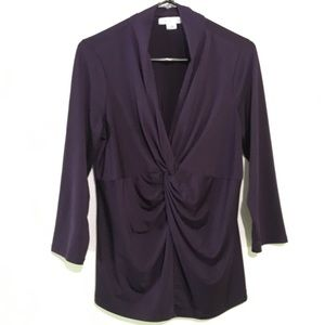 2/$20 Liz Claiborne Purple Shirt